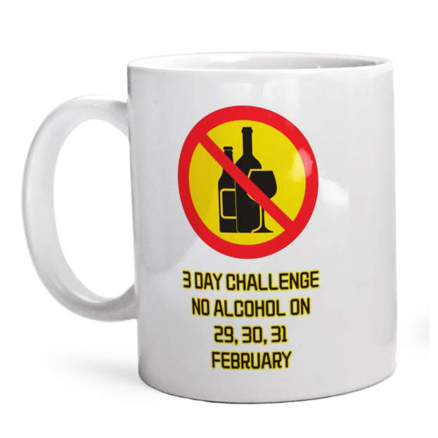 Kubek 3 day challenge no alcohol on 29,30,31 february-01