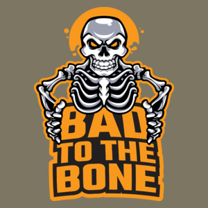 Bad To The Bone - Męska Koszulka Khaki