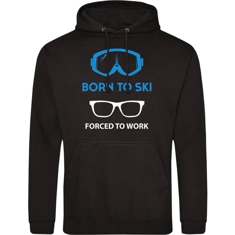 Bluza_z_kapturem Born To Ski Forced To Work