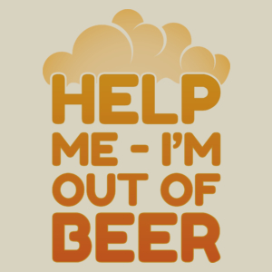 Help me - I'm out of beer - Uniwersalna Torba Na Zakupy Natural