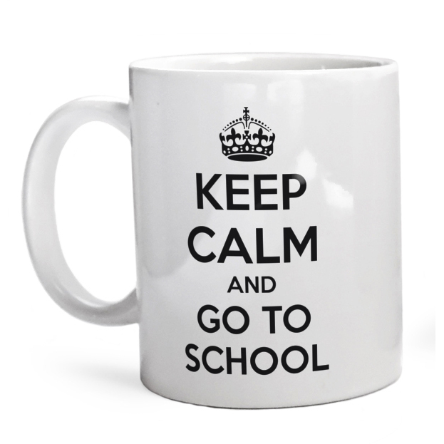 Kubek Keep Calm And Go To School