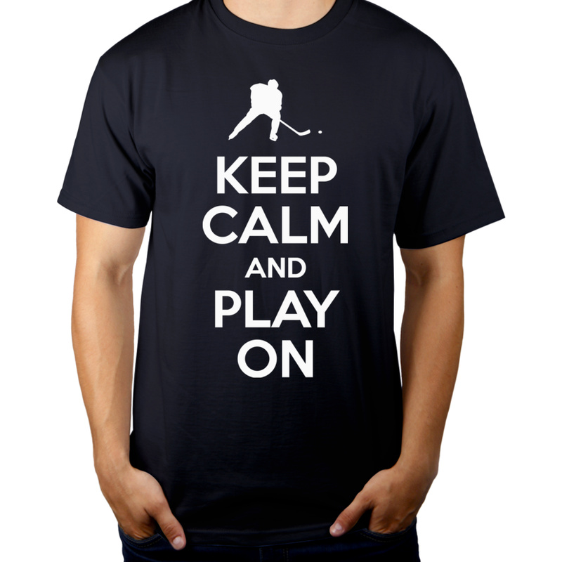 Koszulka Keep Calm And Play Ice Hockey