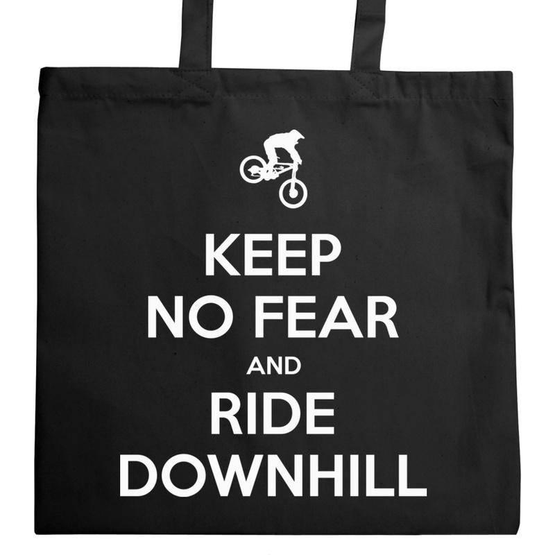 4175908441460 Keep Calm Downhill - Uniwersalna Torba Na Zakupy Czarna - Freshthing.pl