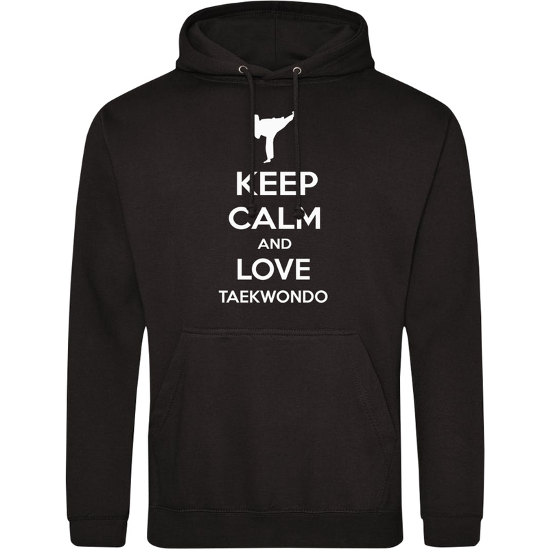 Bluza_z_kapturem Keep Calm and Love Taekwondo