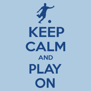 Keep Calm and Play On - Football - Męska Koszulka Błękitna