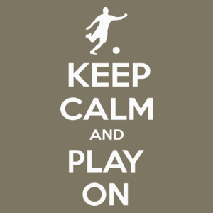 Keep Calm and Play On - Football - Męska Koszulka Khaki