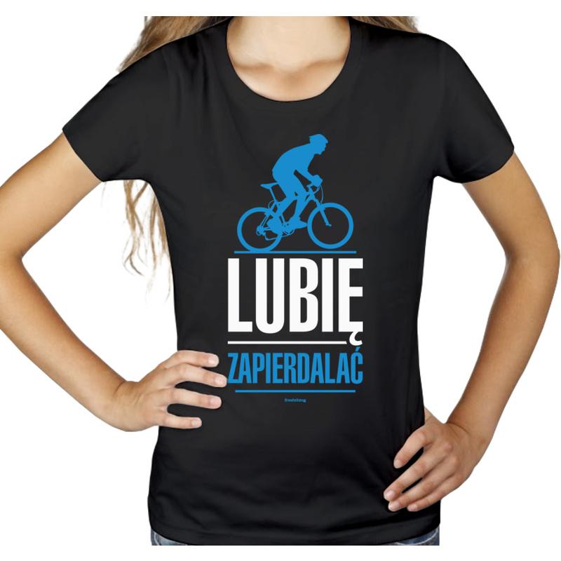 53c79481addf82 Lubię Zapierdalać Rower MTB - Damska Koszulka Czarna - Freshthing.pl