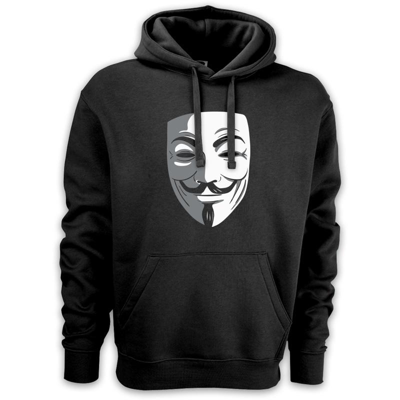 czarna bluza z maską