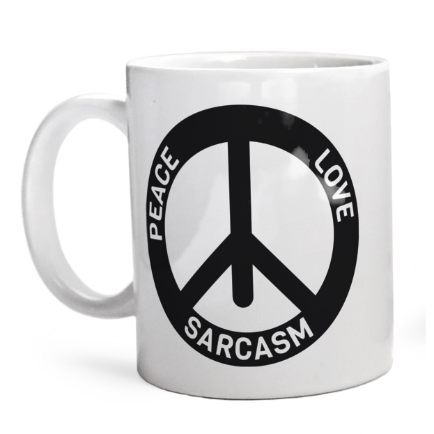 Kubek Peace Love Sarcasm