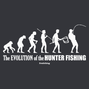 The Evolution Of Hunter Fishing - Męska Koszulka Szara