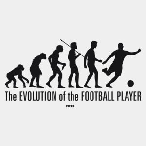 The Evolution Of The Football Player - Męska Koszulka Biała