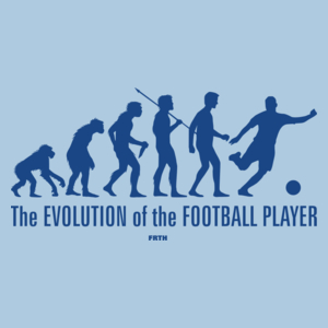 The Evolution Of The Football Player - Męska Koszulka Błękitna
