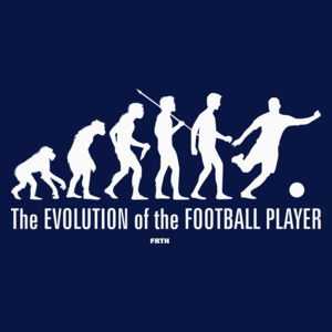 The Evolution Of The Football Player - Męska Koszulka Ciemnogranatowa