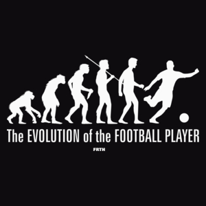 The Evolution Of The Football Player - Męska Koszulka Czarna