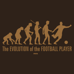 The Evolution Of The Football Player - Męska Koszulka Czekoladowa