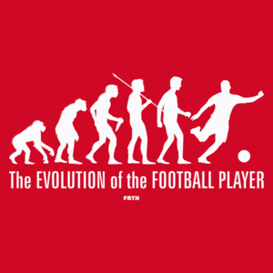 The Evolution Of The Football Player - Męska Koszulka Czerwona