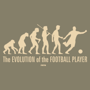The Evolution Of The Football Player - Męska Koszulka Jasno Szara