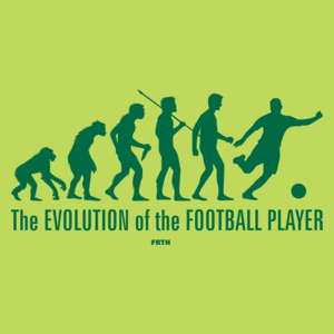 The Evolution Of The Football Player - Męska Koszulka Jasno Zielona