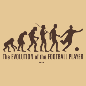The Evolution Of The Football Player - Męska Koszulka Piaskowa