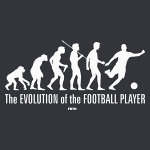 The Evolution Of The Football Player - Męska Koszulka Szara